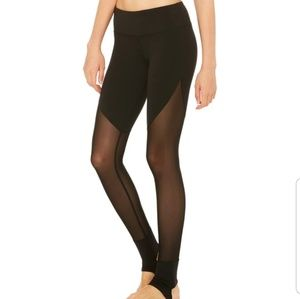 "ALO Yoga ""Show Off"" Sheer Leggings Large"